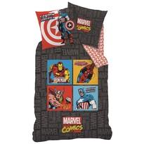 Detské bavlněné obliečky Avengers Comics grey, 135 x 200 cm, 80 x 80 cm