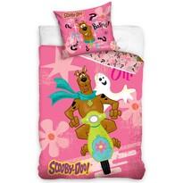 Dětské bavlněné povlečení Scooby Doo Pink, 140 x 200 cm, 70 x 80 cm
