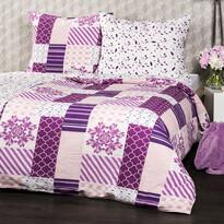 Lenjerie de pat din crep 4Home Patchwork violet