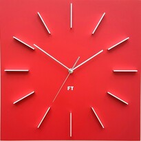 Ceas de perete design Future Time FT1010RD Square  red, 40 cm