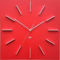 Future Time FT1010RD Square red Designové nástenné hodiny, 40 cm