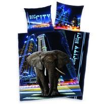 Bavlnené obliečky Slon v meste, 140 x 200 cm, 70 x 90 cm