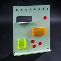 Organizér Keywall na kľúče s magnetickou tabuľou, zelený