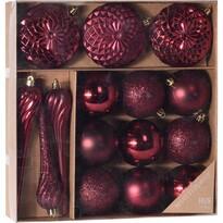 Set decoraţiuni de Crăciun Tolentino 15 buc., roşu,