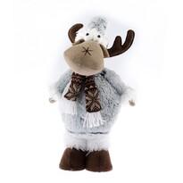 Vianočný filcový sob Albert, sivá