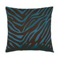 Polštářek Leona zebra modrá, 45 x 45 cm