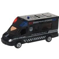 Policajné auto čierna, 18 cm