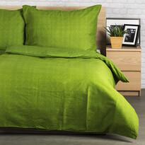 Pościel bawełniana Guru UNI zielony, 140 x 200 cm, 70 x 90 cm