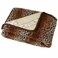 Vlnená denná deka Merino leopard, 140 x 200 cm