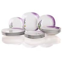 Banquet Lavender 18-częściowy zestaw talerzy