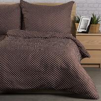 Krepové obliečky Pallas Polka hnedá, 140 x 200 cm, 70 x 90 cm