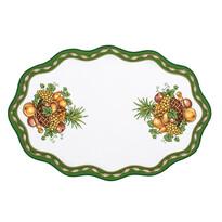 Față de masă verde cu fructe, 32 x 46 cm