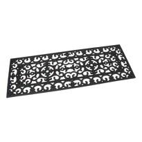 Venkovní rohožka Deco černá, 45 x 120 cm