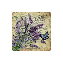 Tablou pe suport metalic Bouquet de Provence, 20 x 20 cm