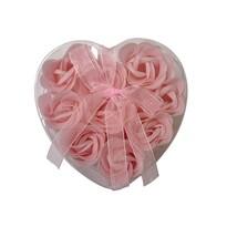Mýdlové květy, 9 ks, růžová