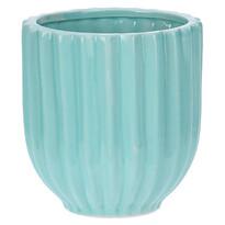Doniczka ceramiczna Stripes, niebieski