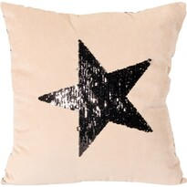 Vankúšik Stars béžová, 45 x 45 cm