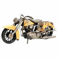 Dekoračný model motorky Indian, žltá