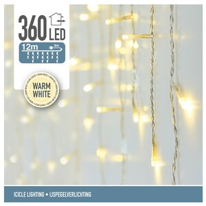 Světelný vánoční řetěz Icicle teplá bílá, 360 LED