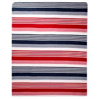Fleecová deka Proužek Trikolor, 130 x 170 cm