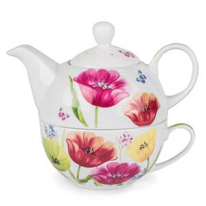 Porcelánová kanvička so šálkou Tulip