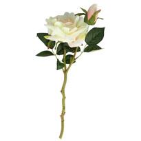 Umělá rozkvetlá růže, bílá