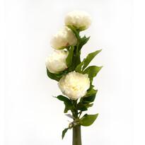 Umelá kvetina pivoňka biela 4 ks
