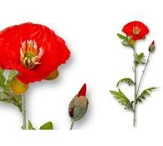 Sztuczny kwiat Mak polny 70 cm