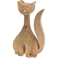 Drewniany kot dekoracyjny 24 cm