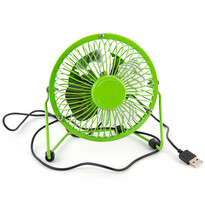 USB větrák zelená, 13,5 x 11 x 15 cm