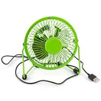 Ventilator USB verde, 13,5 x 11 x 15 cm