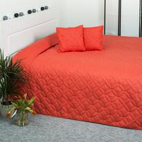 4Home prehoz na posteľ Mariposa oranžová, 220 x 240 cm, 2x 40 x 40 cm