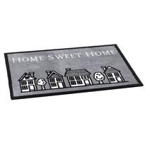 Vnútorná rohožka Home sweet home grey, 50 x 75 cm