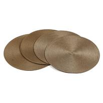 Prestieranie Deco okrúhle svetlo hnedá, pr. 35 cm, sada 4 ks