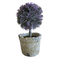 StarDeco Umělý stromek v květináči fialová, 20 cm
