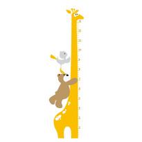 Naklejka dekoracyjna miara żyrafa