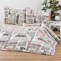 Obliečky Mikroplyš Newspaper, 140 x 200 cm, 70 x 90 cm