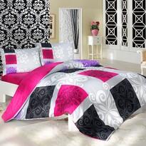 Bavlnené obliečky Sedef ružová, 220 x 200 cm, 2 ks 70 x 90 cm