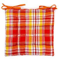 Sedák prešívaný Kocka oranžová, 40 x 40 cm