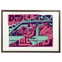 Plakát Drive Me Mad 70 x 50 cm, digitální tisk