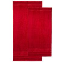 4Home komplet ręczników Bamboo Premium czerwony, 70 x 140 cm, 50 x 100 cm