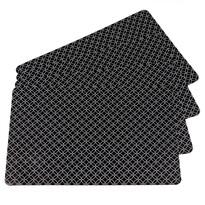 Prostírání Modern černá, 28 x 43 cm, sada 4 ks