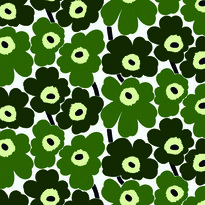 Tapeta Pieni Unikko 70 x 100 cm, zelená/zelená