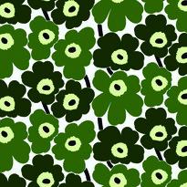 Tapeta Pieni Unikko 0,7 x 10 m, zielona/zielona