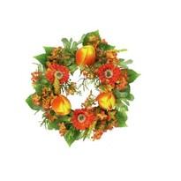 Umělý věnec jarní oranžový