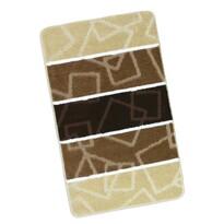 Dywanik łazienkowych Avangard Brązowe kwadraty, 60, 60 x 100 cm