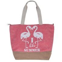 Geantă de plajă Flamingo, roz
