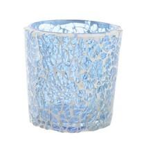 Svícen Mozaika modrá, 8 cm