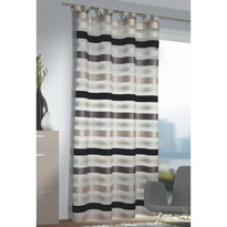 Záclona s pútkami Katie strieborná, 140 x 245 cm