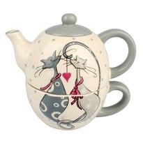 Zestaw ceramiczny do herbaty Cats
